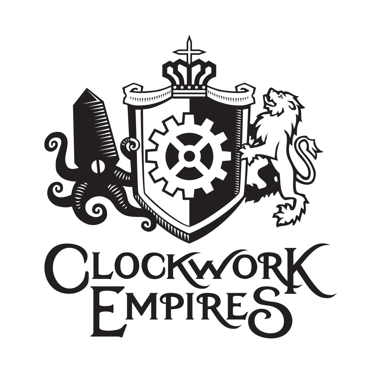 Clockwork empires heraldic crest logo design clockwork biocorpaavc Gallery
