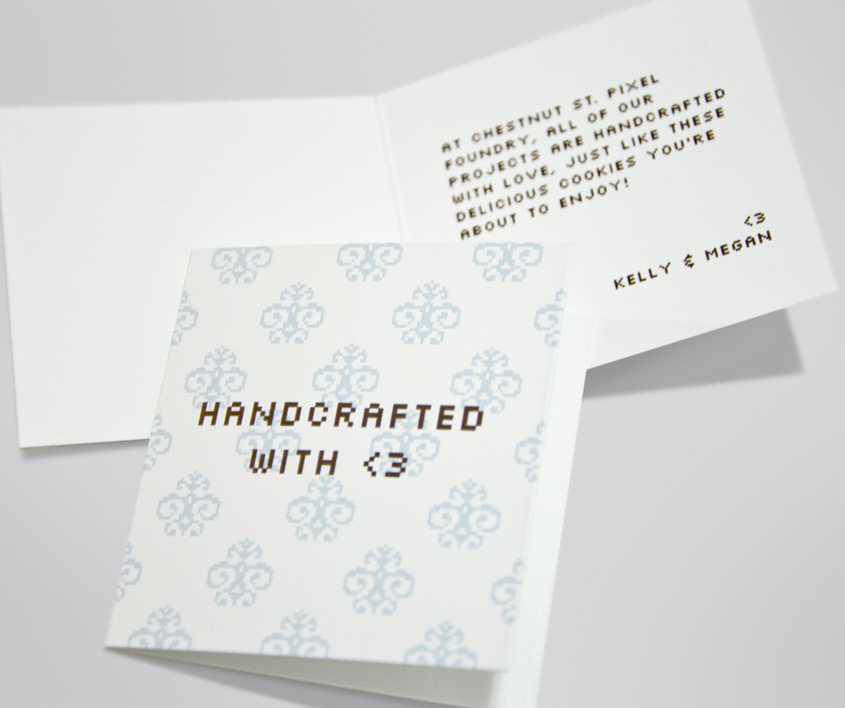 HANDCRAFTED WITH <3 - Card design