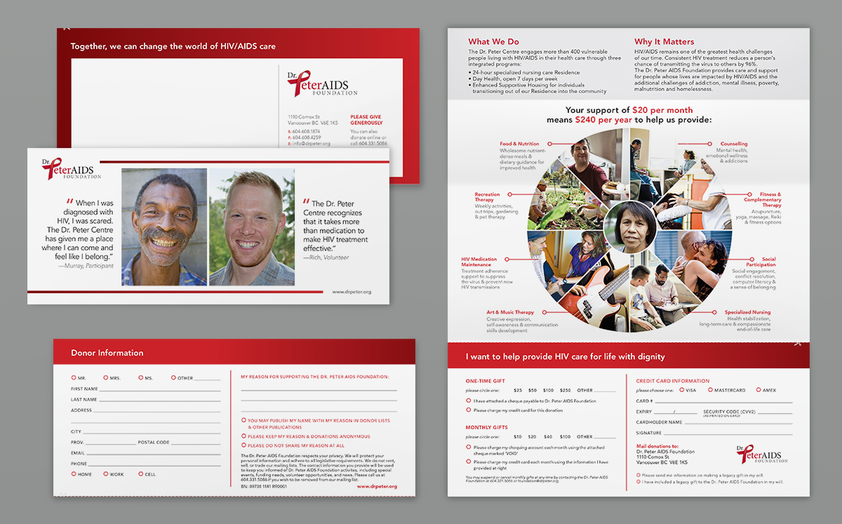 Direct mail donation brochure - Dr. Peter AIDS Foundation