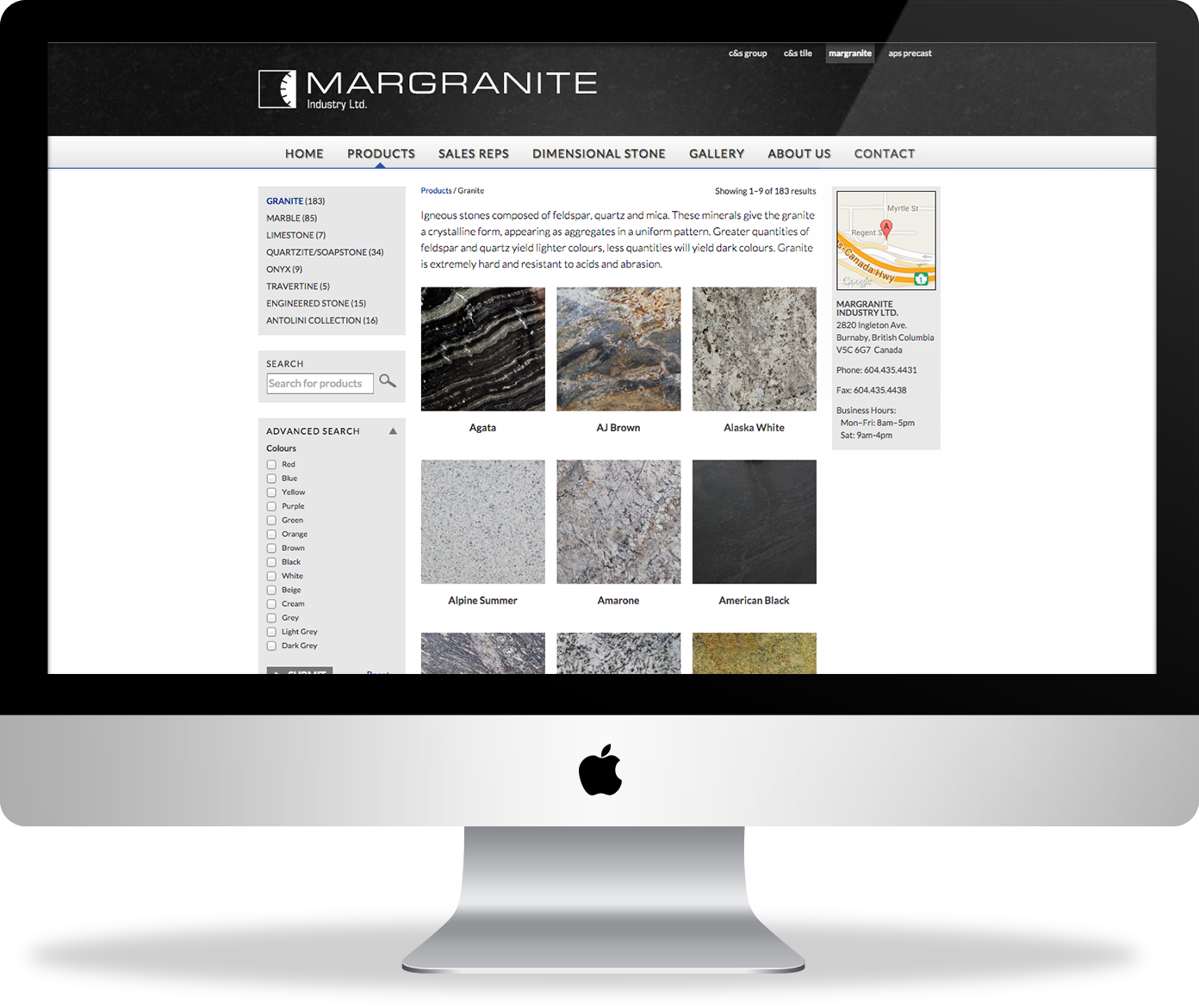 Margranite website