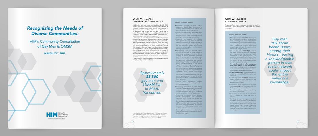 HIM Community Consultation Report Design/Layout