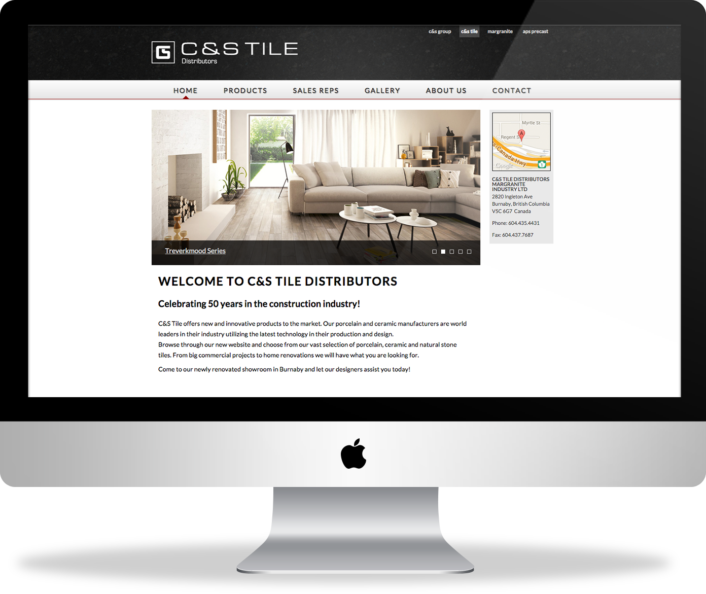 C&S Tile website - homepage