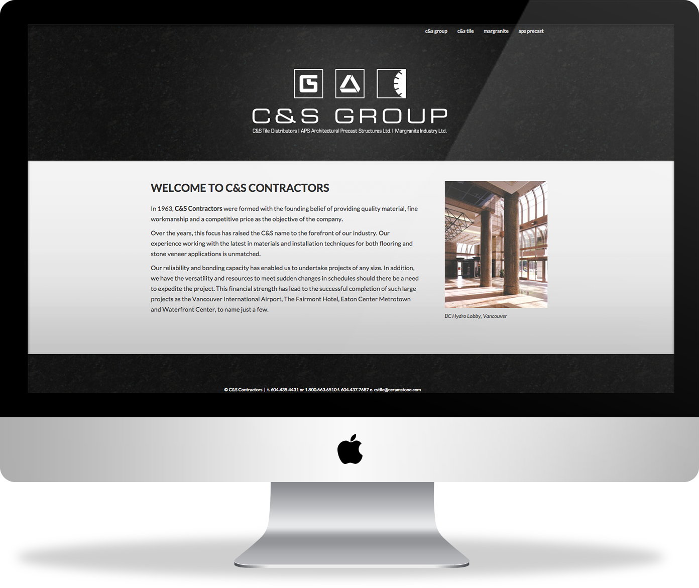 C&S Contactors website