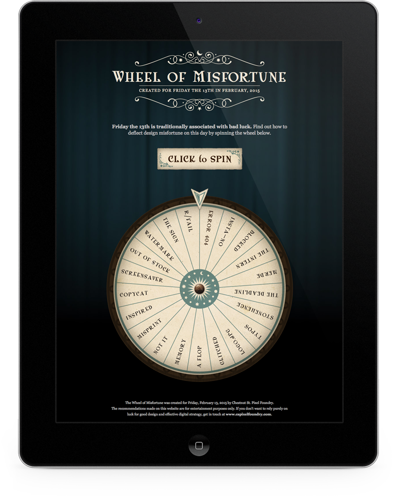 Wheel of Misfortune microsite