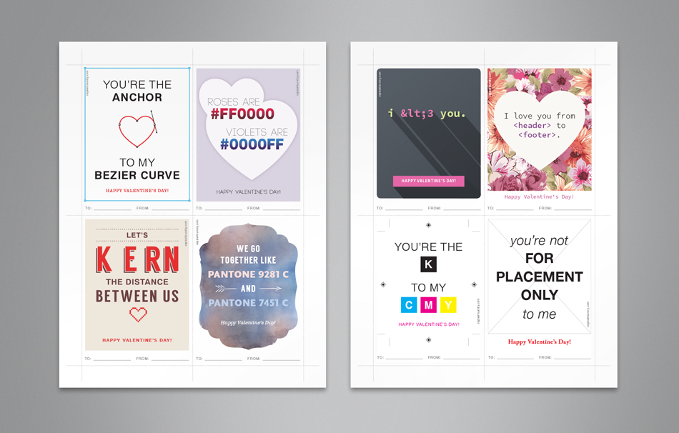 Printable Design Geek Valentines