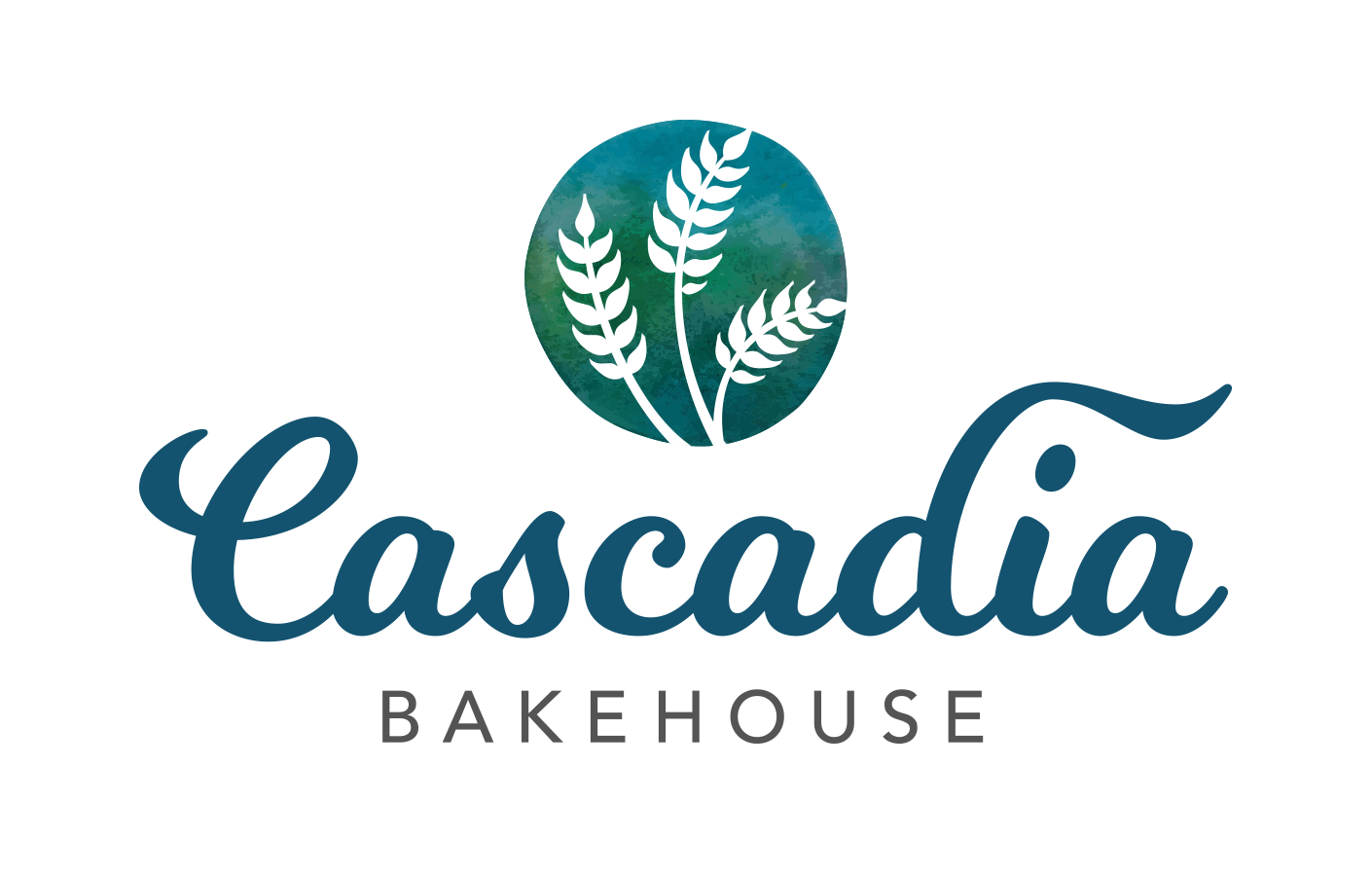 Logo and branding for Cascadia Bakehouse